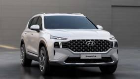 Hyundai Santa Fe 2021 года получит рестайлинг и гибридную установку