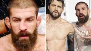 Боец UFC вправил сломанный нос во время поединка