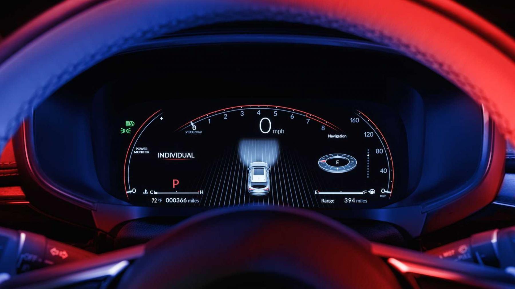 Виртуальная приборная панель Acura MDX, formacar.com