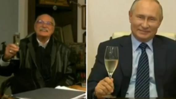 Песков не смог назвать марку выпитого Путиным и Михалковым шампанского