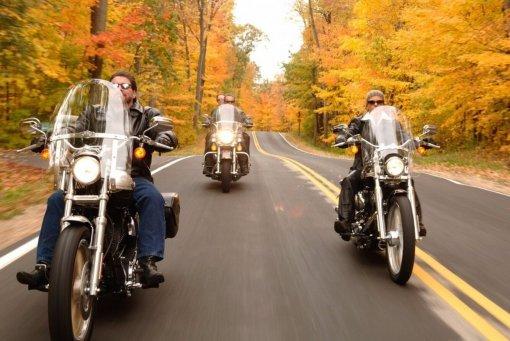 ГИБДД призвала мотоциклистов быть внимательней на дорогах осенью