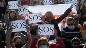 Белорусы просят Европу и Россию повлиять на Лукашенко