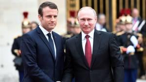 Путин указал Макрону на неуместность обвинений в «деле Навального»