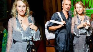 Ксения Собчак и Константин Богомолов посетили фестиваль «Кинотавр»