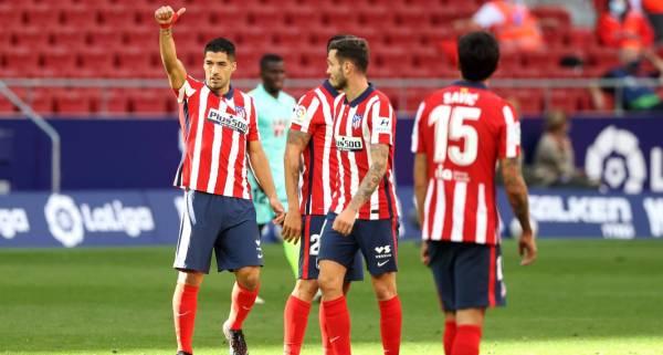 Луис Суарес оформил дубль в дебютном матче за «Атлетико»