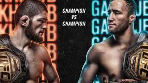 UFC представила официальный постер боя Хабиба и Гэтжи
