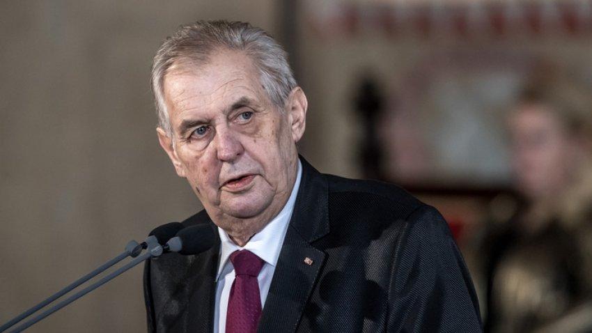 Президент Чехии Милош Земан госпитализирован в военный госпиталь в Праге